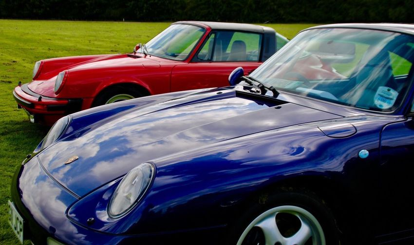 Transportation Red No People Outdoors Day Porsche Sports Cars Sports Car Show Lotherton