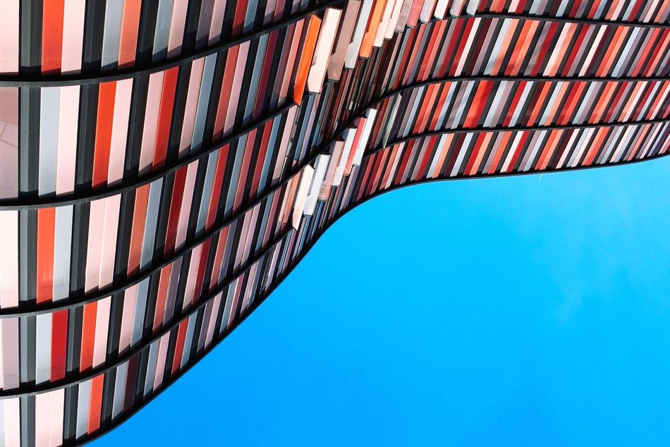 Beautiful stock photos of pattern, Architecture, Blue, Built Structure, Clear Sky