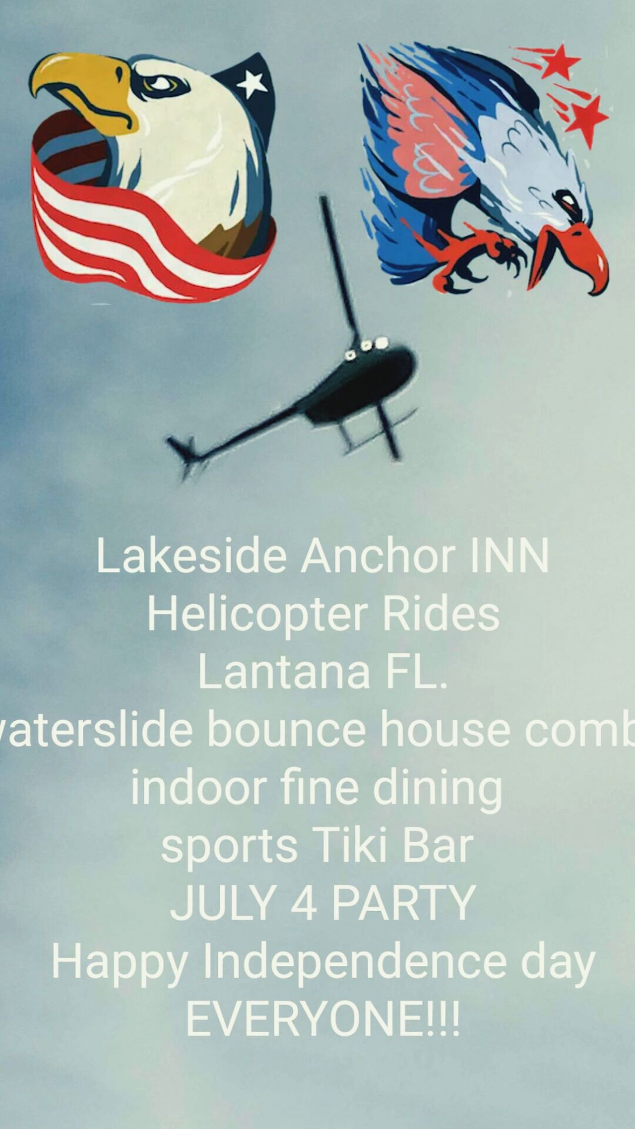 Lakeside Anchor INN!!! LANTANNA FL. FIREWORKS 9:30 PMBig Day At The Resturant / Tiki Sports Bar / Lantanna Fl. My Facebook :post