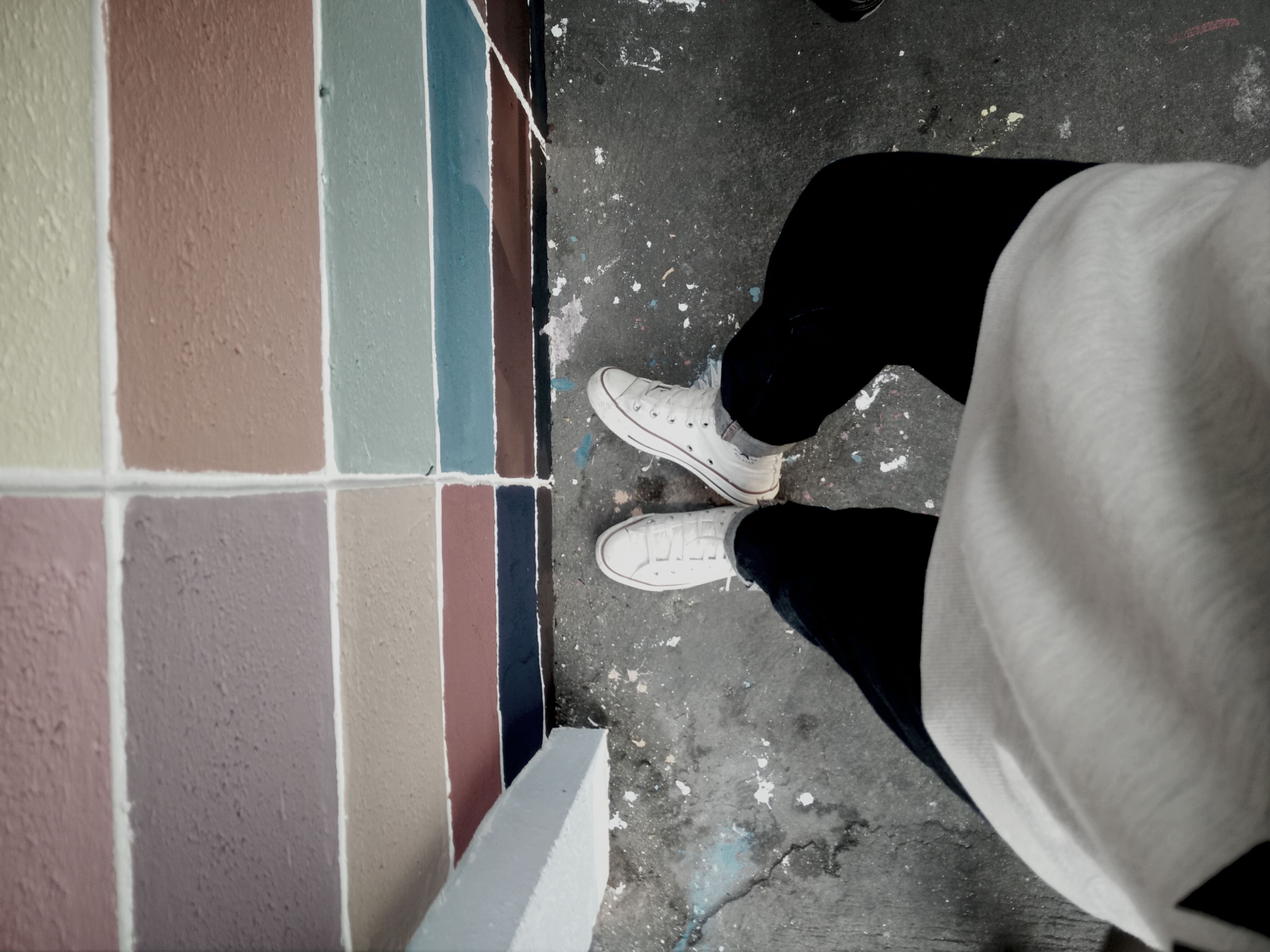low section, person, lifestyles, high angle view, standing, leisure activity, shoe, water, men, indoors, human foot, reflection, rear view, full length, walking, one animal