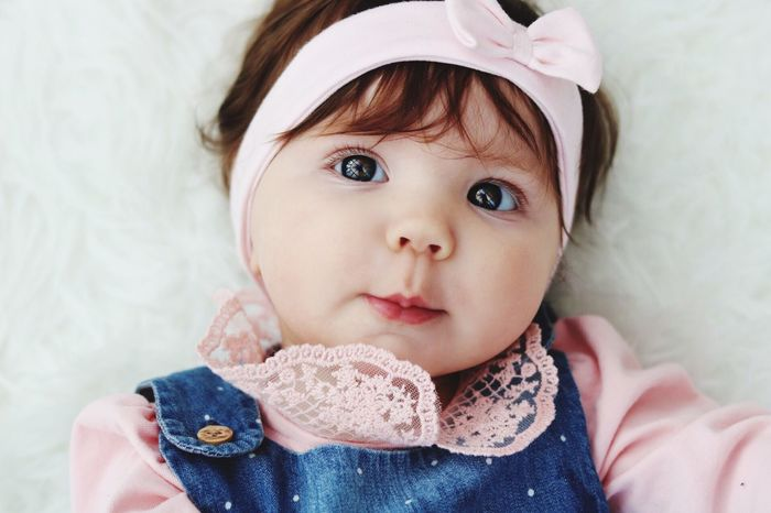 Childhood Innocence Real People Baby Cute Looking At Camera Indoors  One Person Babyhood Portrait