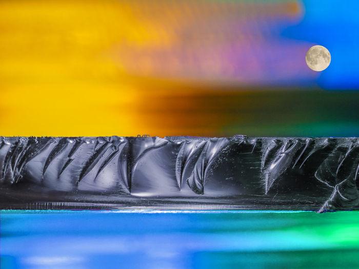 Glas, Farbspielerei, Lightpainting, Abstrakt, Lichtmalerei, Farbenspiel, Close-up, Nahaufnahme, Macro Close-up Nature Glasscheibe