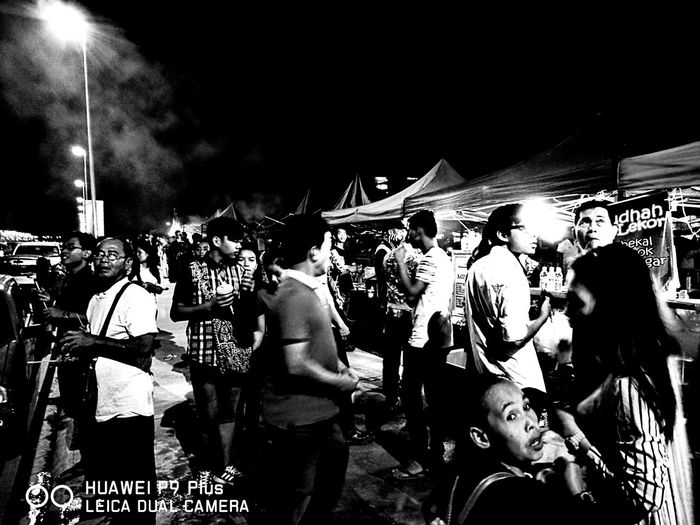 Person Standing Crowd Event Celebration Event Outdoors Fresh On The EyeEm Street Of Borneo Streetcandid Street Life Street Style From Around The World Street Photography Nightlife People And Places Street Bnw_society Bnw_worldwide Bnw_collection Bnw_life Bnw Photography Bnw_universe