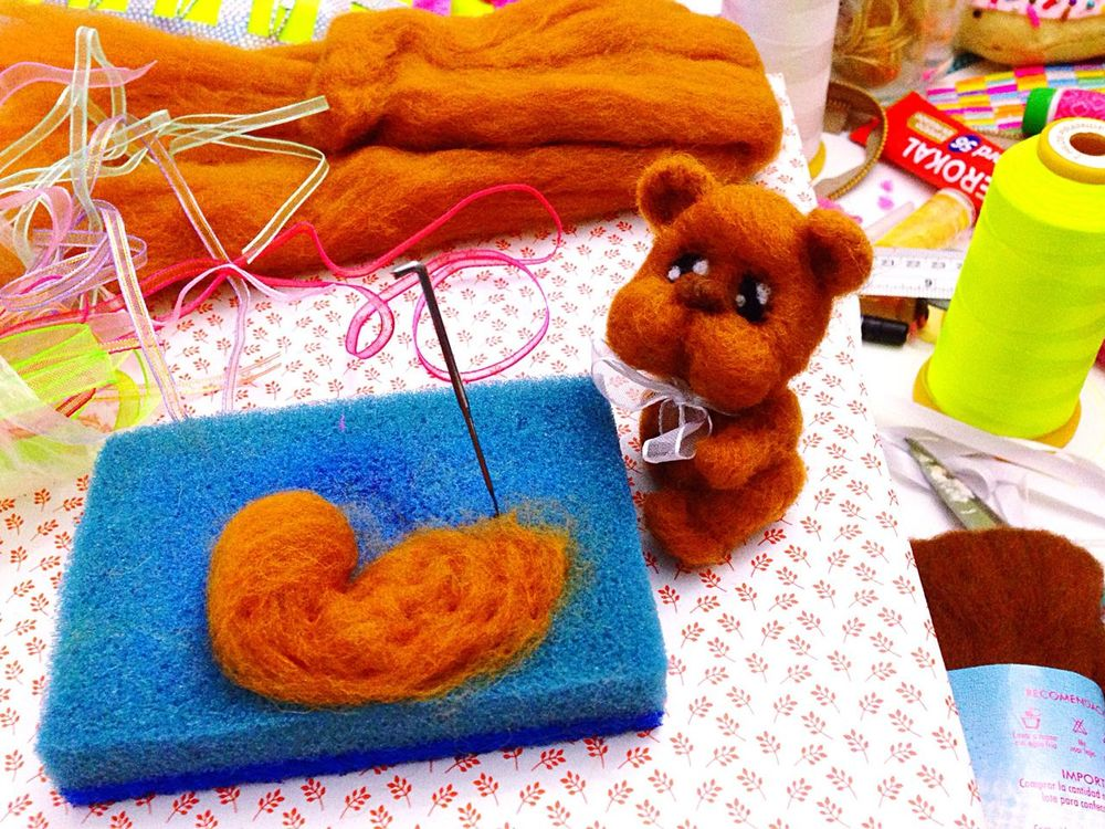 This is like drawing in 3d i loveee😍😍😍🍭🐻 Laviniacharacters Cute Bear Needlefelting Art Fine Toy Wool Hello World Enjoying Life EyeEm Gallery ThatsMe Studio Shot Illustration Love Handmade Boutique Unique