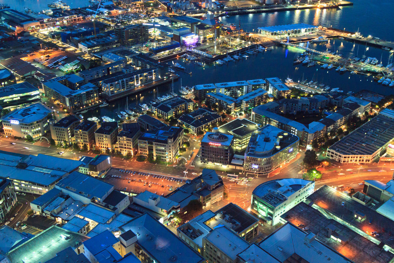 Auckland city view at dusk Aerial View Architecture Building Exterior City Cityscape Eye4photography  EyeEm Best Shots High Angle View Illuminated Night No People Outdoors