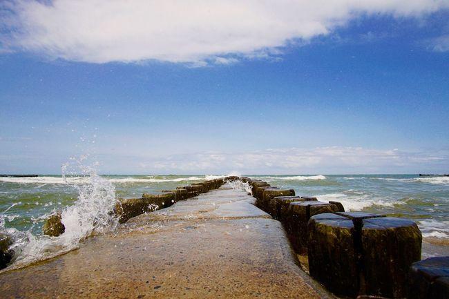 Baltic Sea Sea Ocean Beach Waves Bunen Fischland First Eyeem Photo
