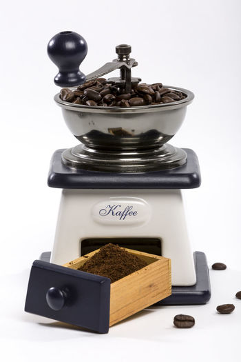 Espresso #02 // Coffee Grinding Coffee Close-up Coffee Bean Coffee Grinder Food Food And Drink Freshness Germany Indoors  No People Studio Shot White Background
