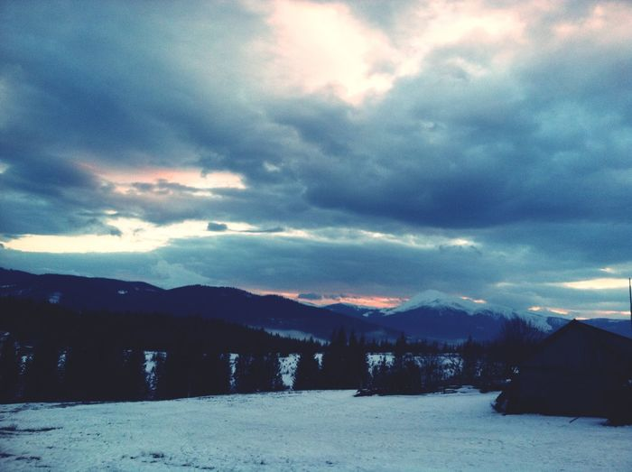 Mountains Sky Snow ❄ Clouds And Sky Clouds