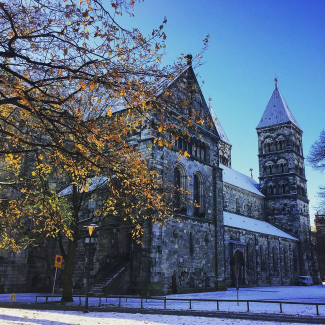 Snow in Lund Check This Out Hanging Out Hello World Taking Photos Relaxing Lundsdomkyrka Sun Travel Photography University Cold Days Wintertime Sweden