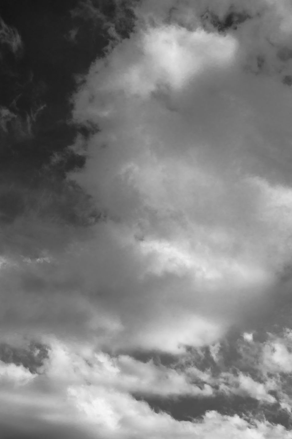Cloudscape - Spring Day Sky B&w Backgrounds Beauty In Nature Black And White Cloud Cloud - Sky Cloudscape Cumulus Cumulus Cloud Day Dramatic Sky Low Angle View Nature No People Outdoors Scenics Sky Sky Only Spring Sky Storm Cloud Tranquility Weather