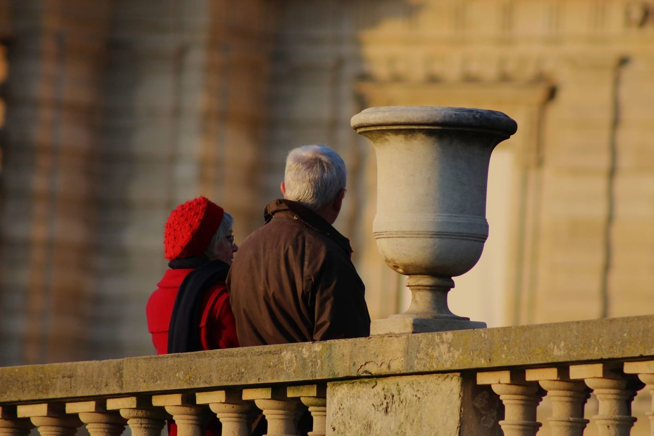 Architecture Couple Day Focus On Foreground Jardin Du Luxembourg Outdoors Paris Real People