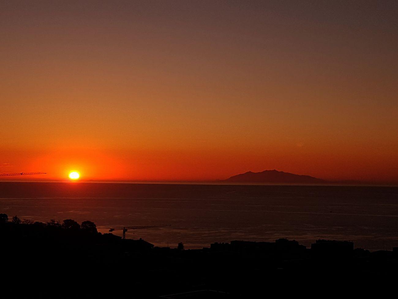 Sunset Sea Horizon Over Water Orange Color Scenics Beauty In Nature Travel Destinations Nature Sun No People Landscape Tranquil Scene Sky
