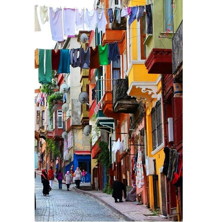 Color Street Turkey Istanbul Turkey Balat People Renk Sokak Insan Insanlar
