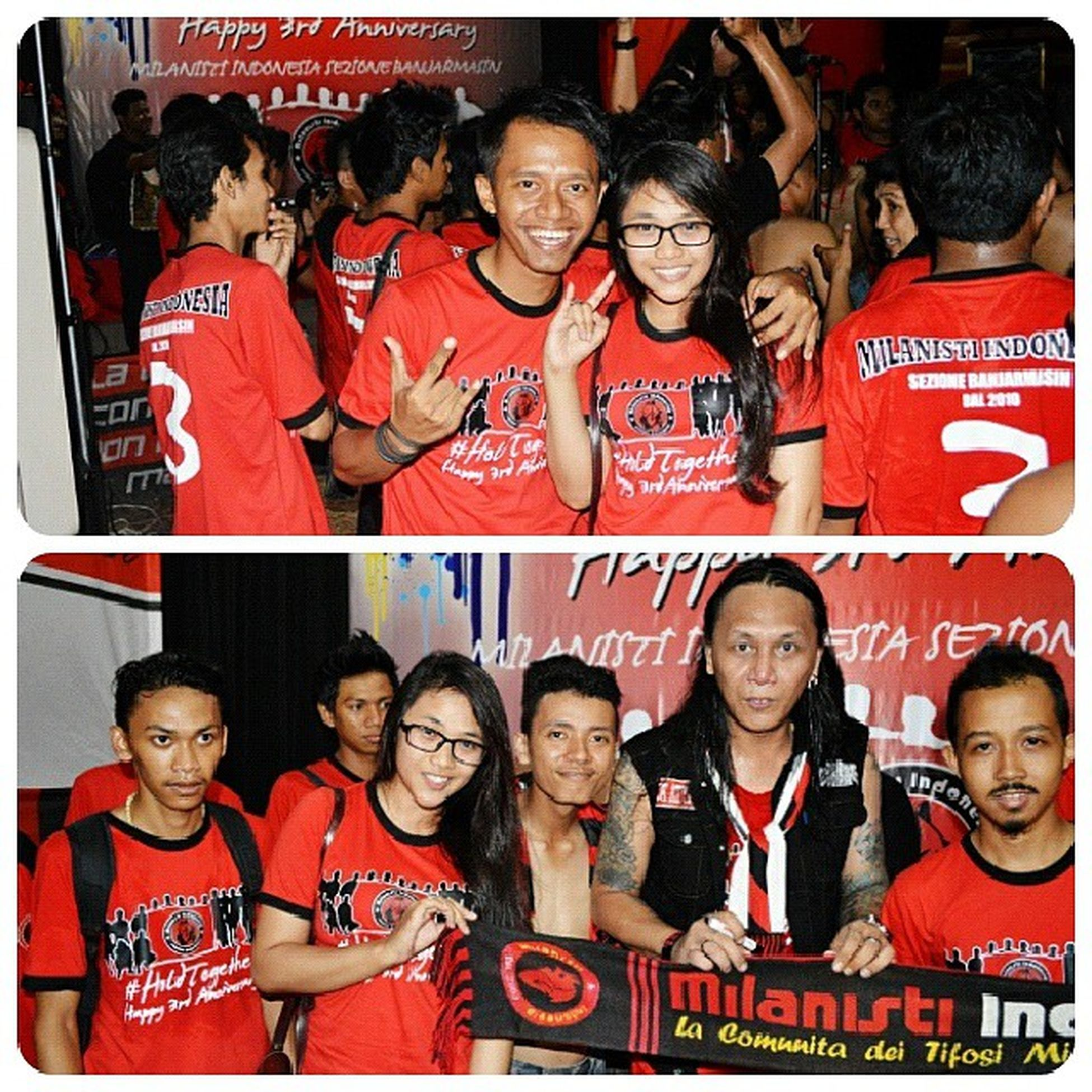 milanisti bjm, my boy+om Roy HoldTogether Happy Anniversary Milanisti indonesia sezione banjarmasin black red