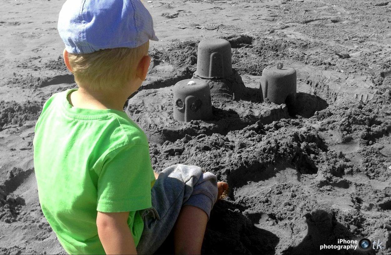 Sea Beach Holiday Building A Sand Castle