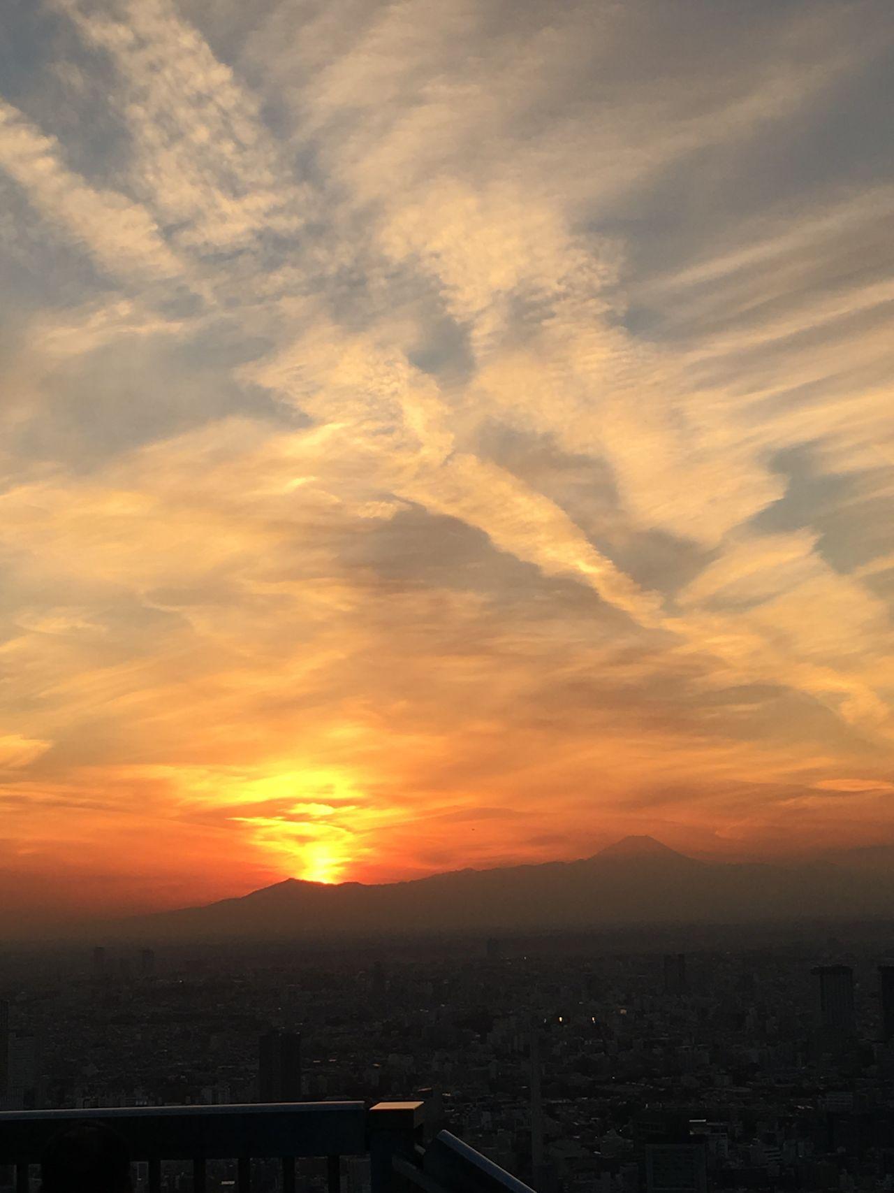 Sunset Japan Roppongi Roppongihills Fuji  Cloud - Sky Orange
