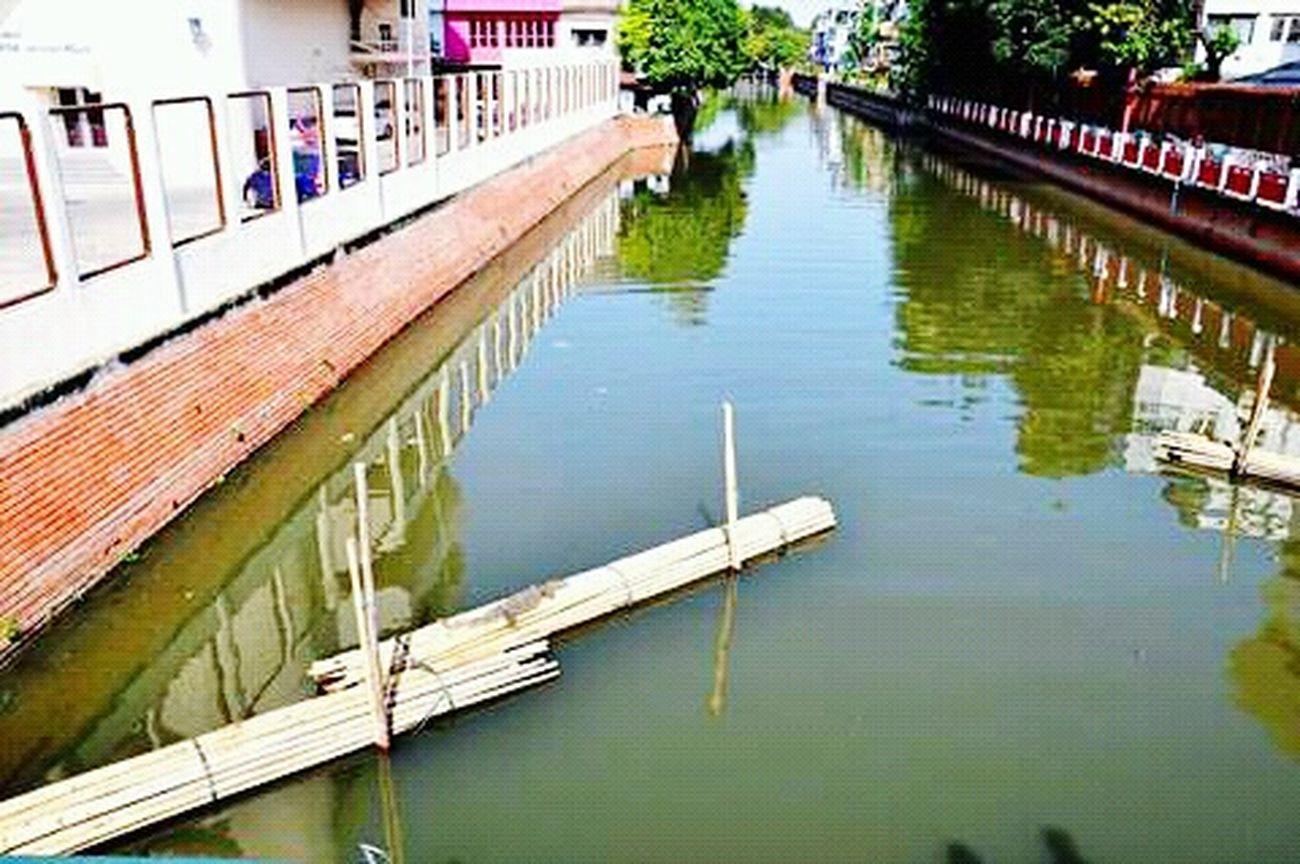 Bangkok Tailand City View  Klong Varan Sunny Day