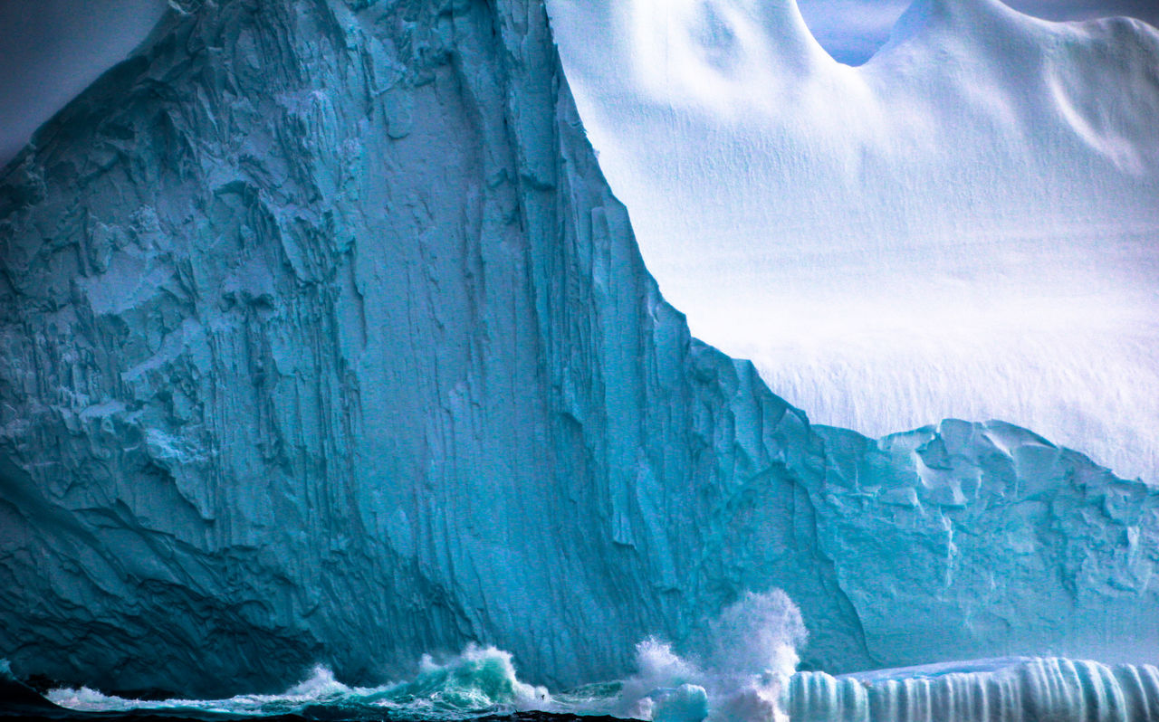 Antarctica's scarred face. Antarctica. Antarctica Beauty In Nature Blue Travel Cold Temperature Day End Of The World Extreme Weather Ice Iceberg Majestic Nature Non-urban Scene Ocean Ocean Waves Power In Nature Scenics Sea Snow Tranquility Water White Wilderness Wildlife & Nature Winter