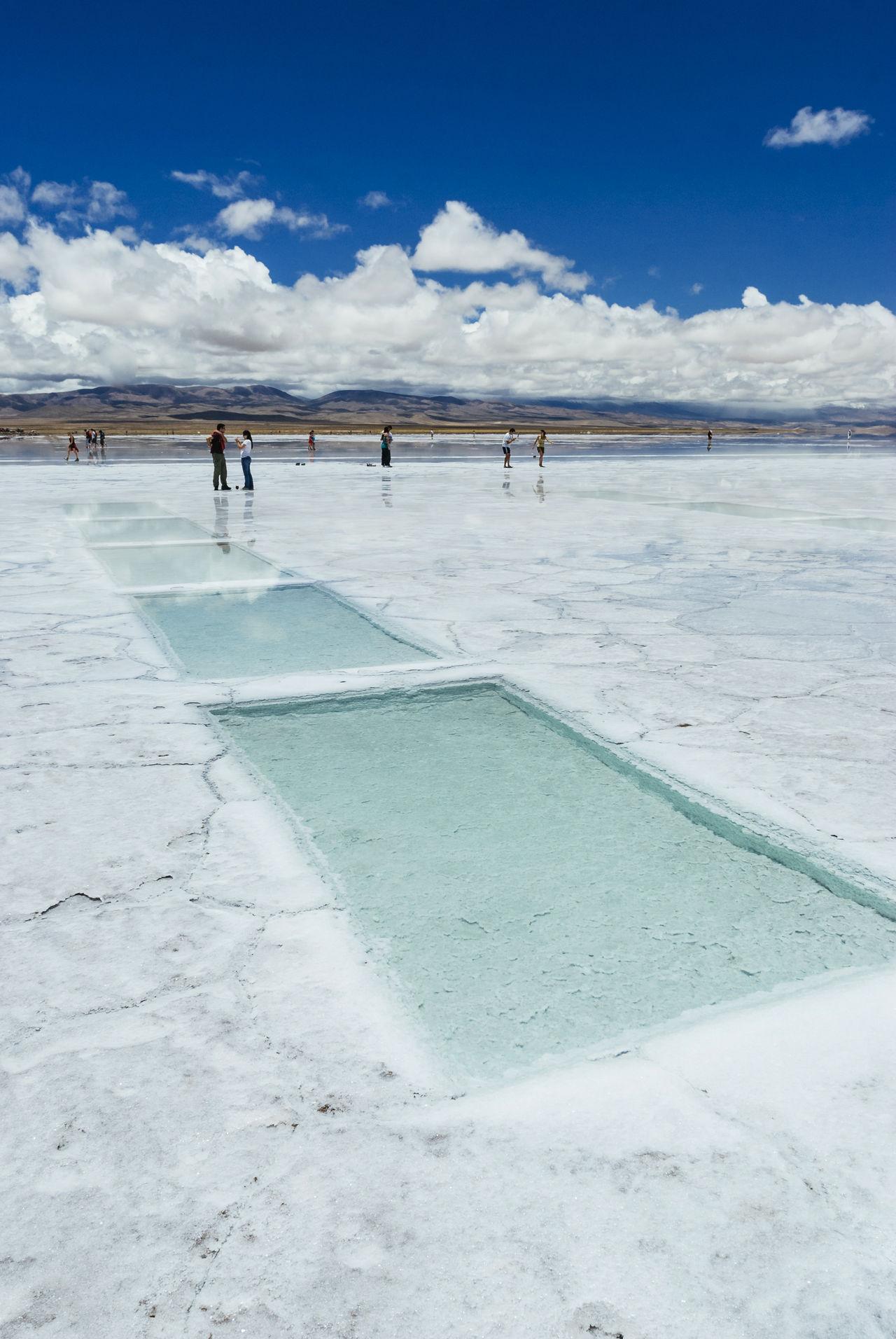 Argentina Jujuy Province Landscape Outdoors Salinas Grandes Salt Salt Flat Salt Flats Sink