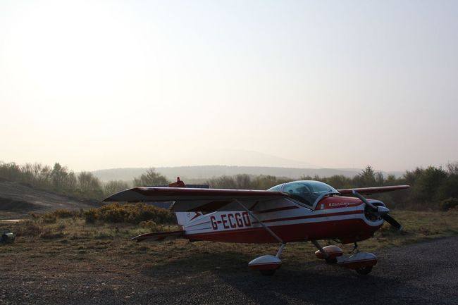 Prepping our ride from Isle of Skye to Prestwick Aircraft Airport Bolkow Bo208C Junior Flying G-ecgo Outdoors Prestwick Transportation
