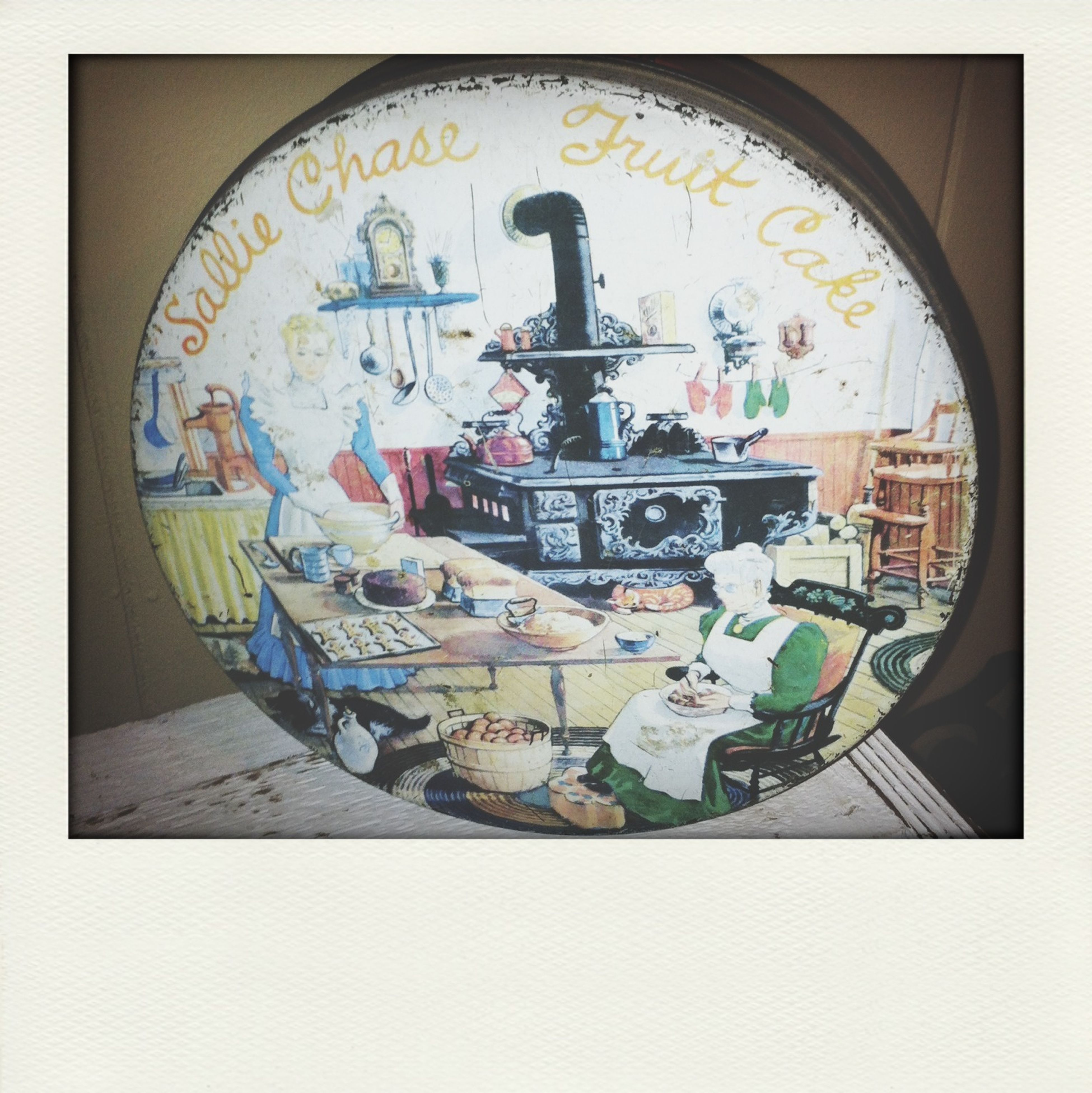 Steph Filter Vintage Tin Holliday Snacks Happy Holidays!