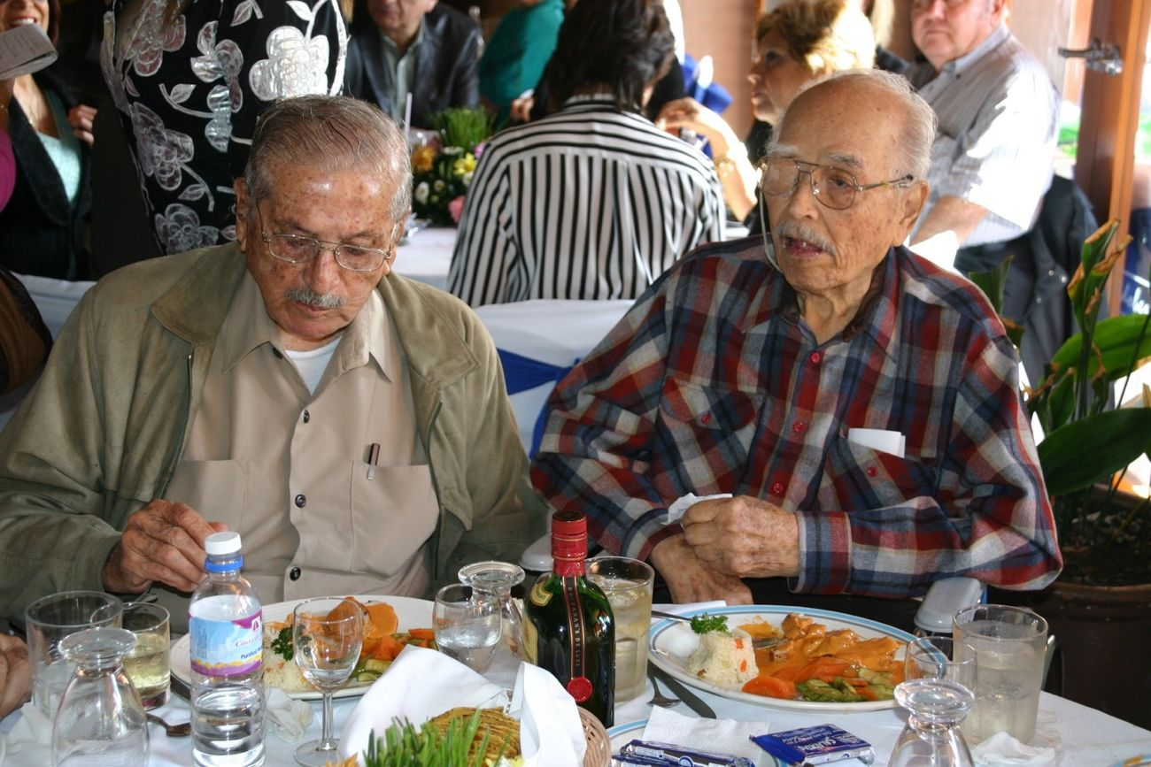 The Party of my father, (Dr. Eusebio Olalde Hernandez) he is ONE HUNDRED years old. here with his best friend Don Antonio Toledo Corro