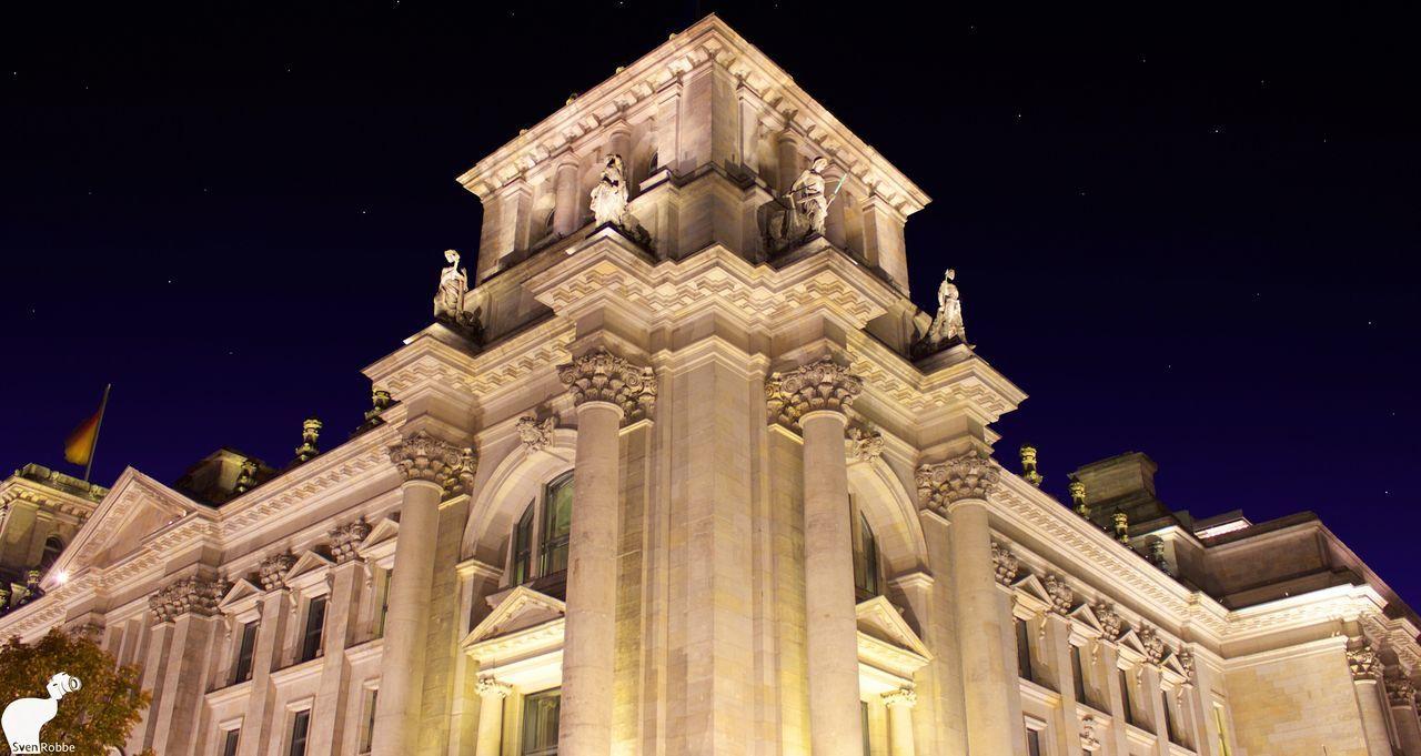 Reichstag Building Politics Night LongTime