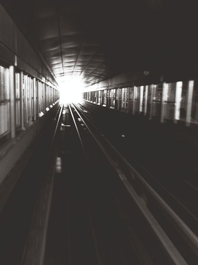Train tunnel dark