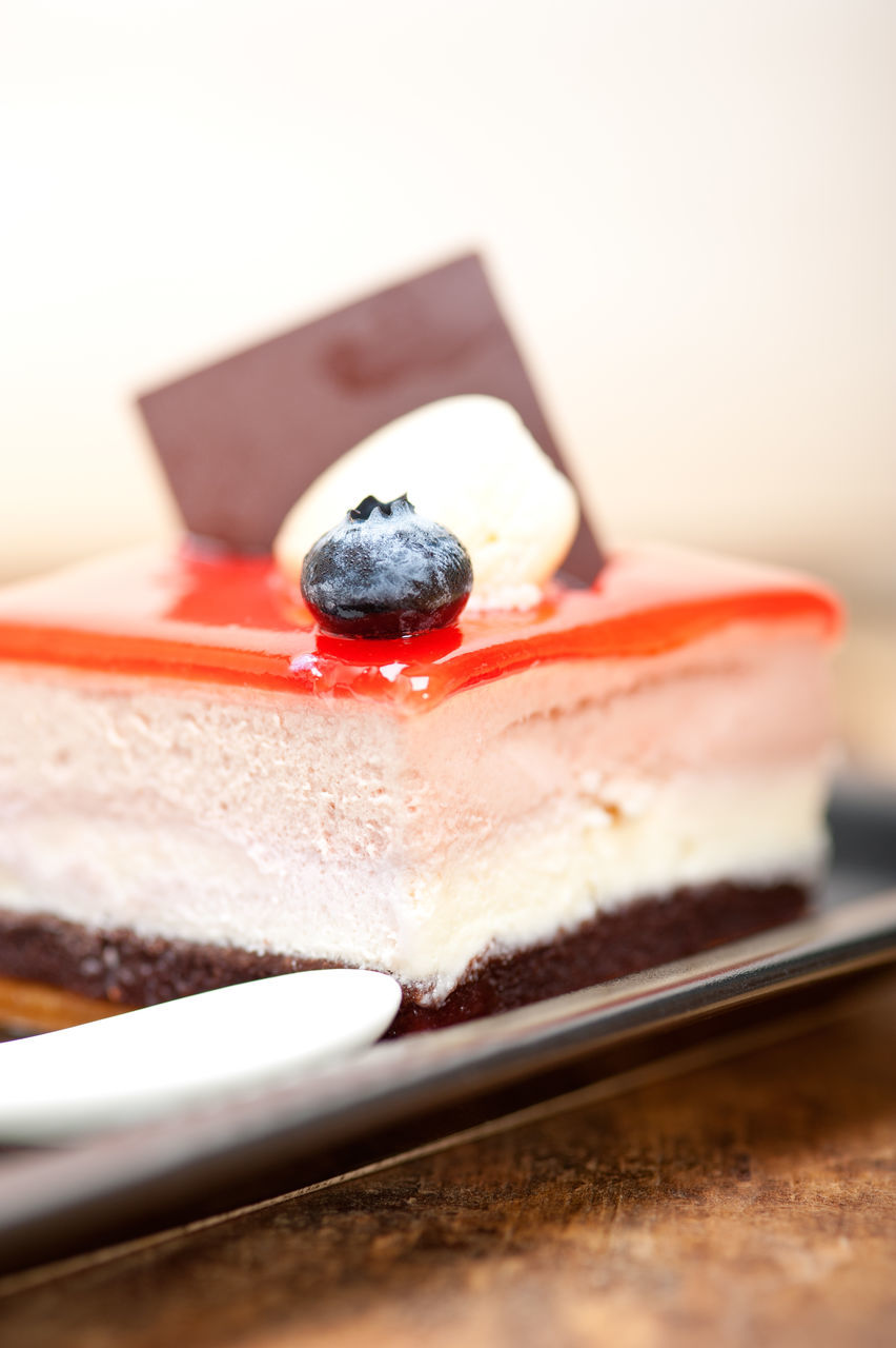 food and drink, blueberry, berry fruit, still life, fruit, plate, food, freshness, temptation, selective focus, ready-to-eat, indulgence, sweet food, dessert, no people, close-up, cake, slice, indoors, serving size, cheesecake, tart - dessert, gelatin dessert