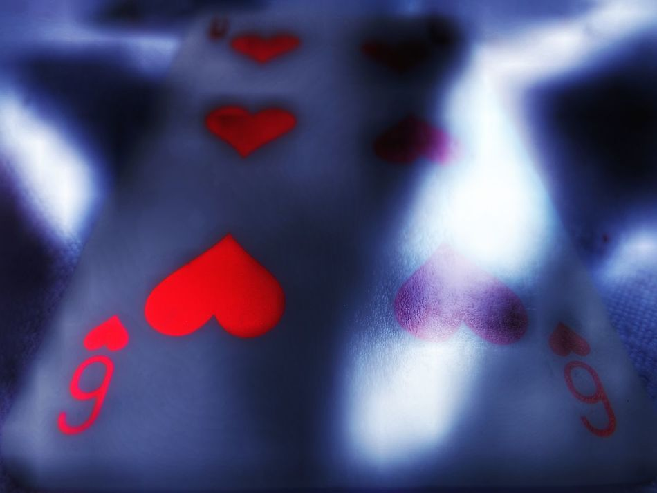 No People Close-up Red Technology Illuminated Day Outdoors Heart ❤ Hearts Red Color Cards Game Coeur ❤ Abstract Photography Abstractions In Colors