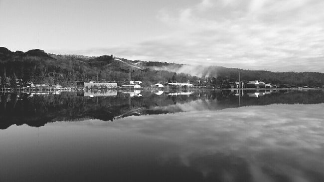 Monochrome Photography Reflection Water Waterfront Calm Tranquil Scene Tranquility Scenics Lake Mountain Sky Blue Standing Water Beauty In Nature Nature Remote Day Cloud - Sky Solitude Mountain Range Lake View Lake Superior Lakelife