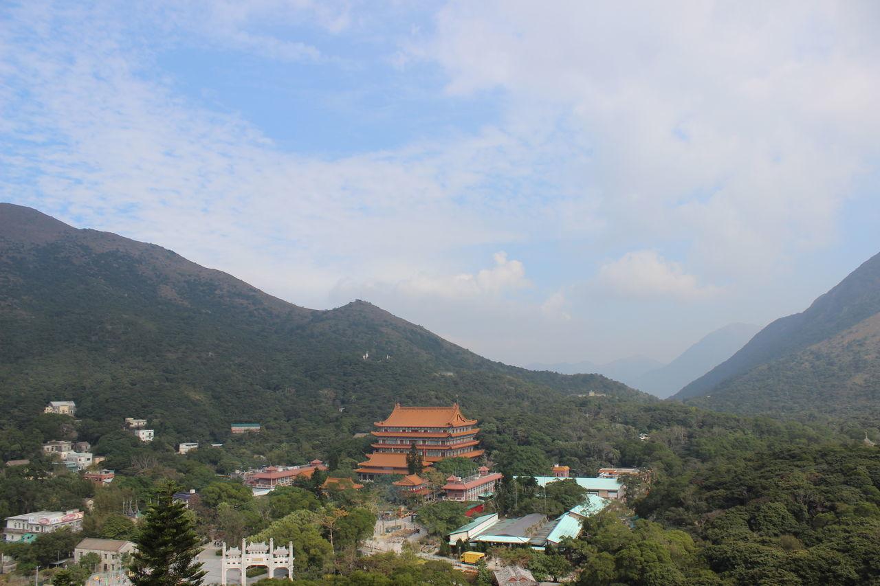 Mountain Mountain Range Blue Architecture Cloud - Sky Building Exterior Outdoors Sky Fog No People Scenics Day Travel Photography Travel Destinations HongKong Tian Tan Buddha (Giant Buddha) 天壇大佛