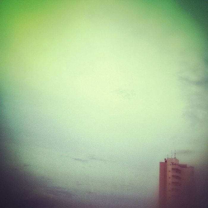 Playing around with Snapseed . Sky Colorfullsky Building