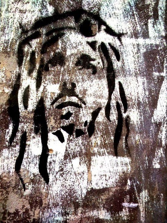 Streetgraffiti Black & White Religion Impression Graffitiporn