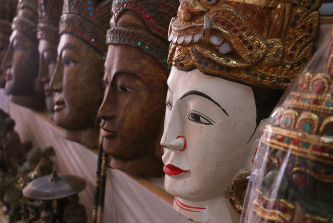 FACE Bagan Cultures Face Monster Myanmar Religion Statue