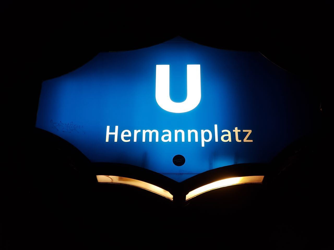 Blue Communication Text Night Details Street Photography Sign Cover City Berlin Neukölln Berlin Neukölln Hermannplatz Typography Berlintourist Berlin By Night