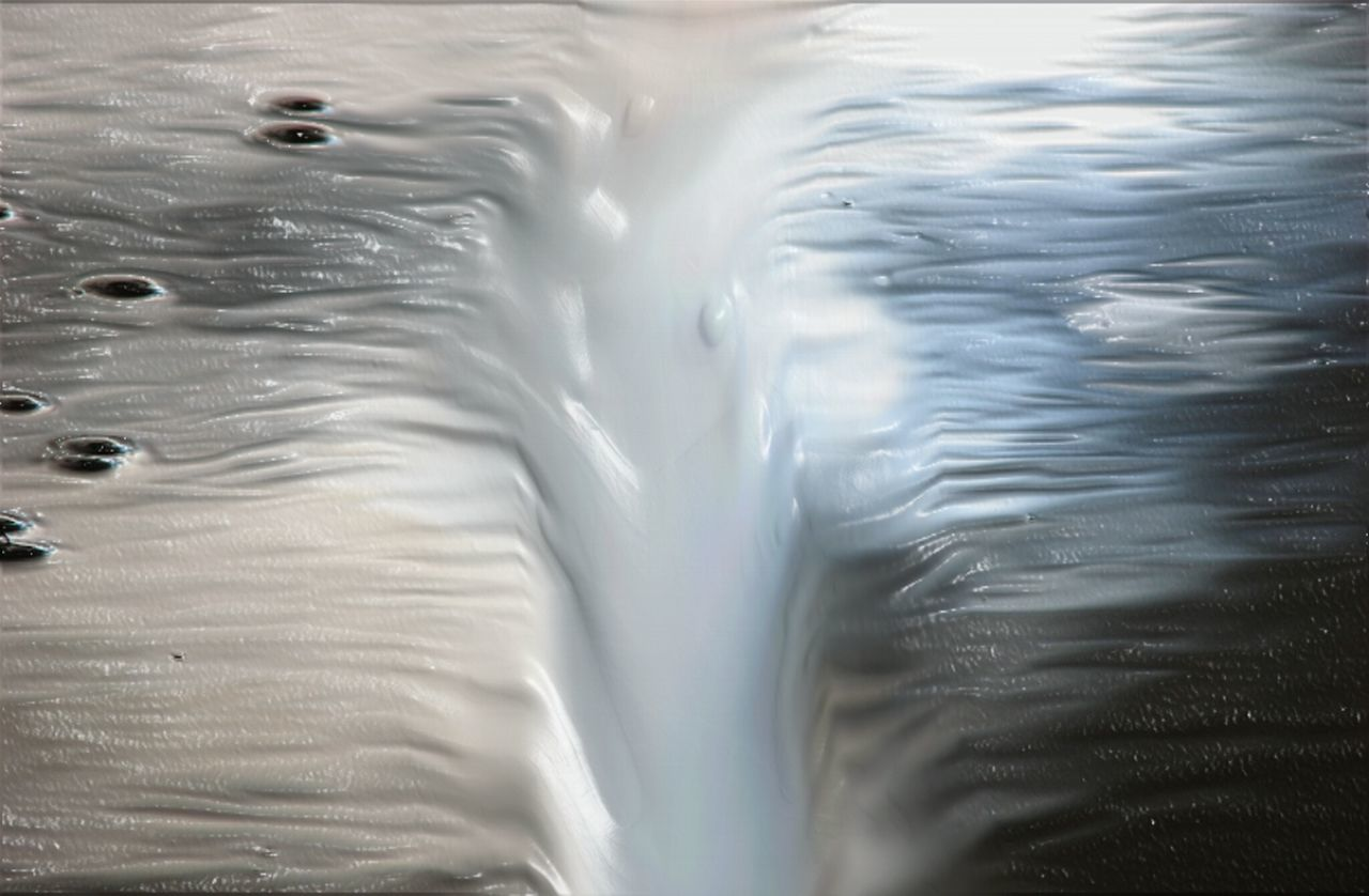 The crack. Water River View Crack Primal Paint Robin Fifield - Artworks Awehaven Creative Collective Consciousness Freshness No People NEW MEDIA ART TCPM Cut And Paste