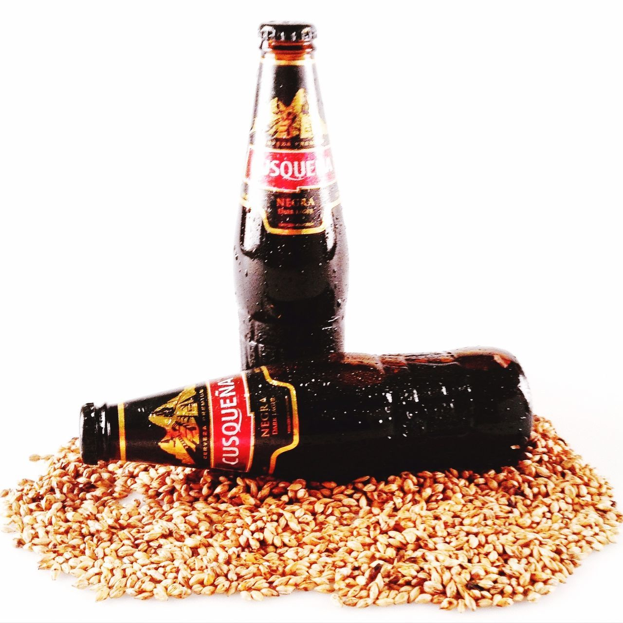 bottle, food and drink, studio shot, white background, close-up, no people, drink, grain, indoors, freshness, food, day