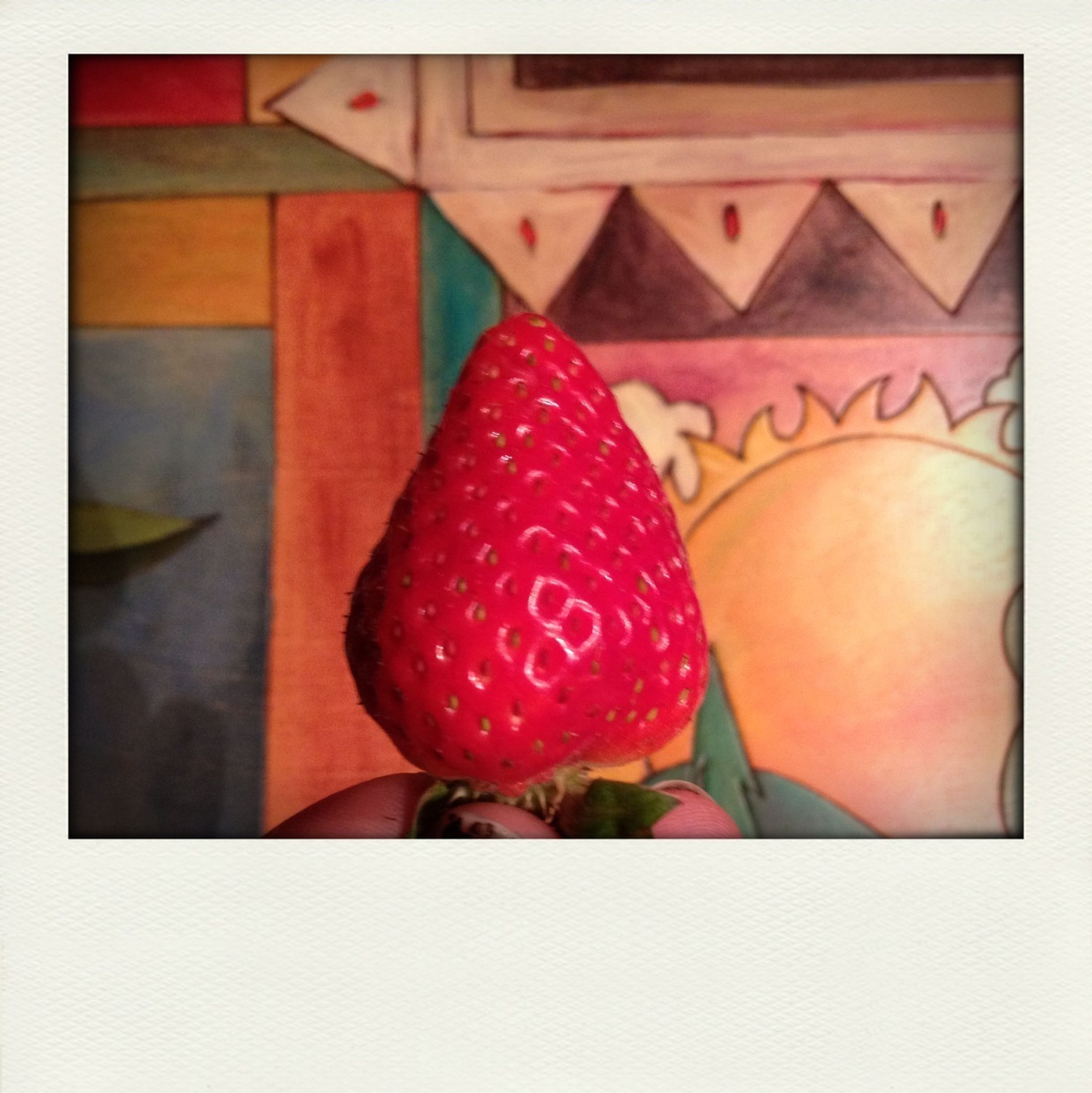 transfer print, red, auto post production filter, indoors, food and drink, still life, close-up, heart shape, food, sweet food, table, multi colored, fruit, freshness, strawberry, love, high angle view, creativity, celebration, art and craft