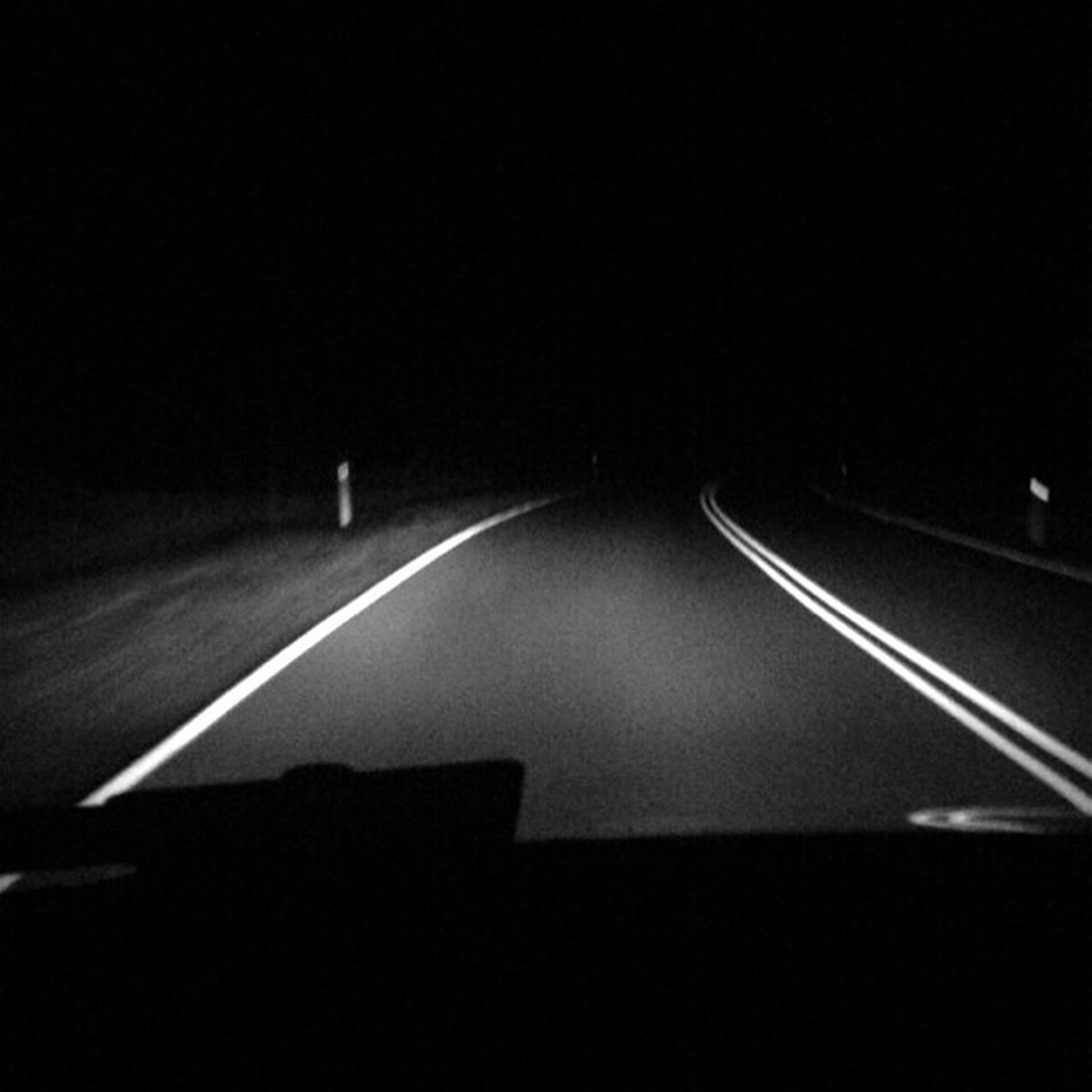 illuminated, night, the way forward, empty, diminishing perspective, road, dark, absence, no people, vanishing point, light, glowing, close-up
