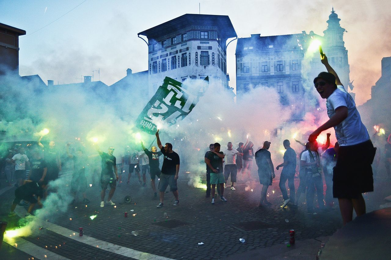 My Favorite Photo Ljubljana People Together Colour Of Life Original Experiences Feel The Journey Sports Energy Group Football Supporters Colorful Euro 2016 Football Game Sport Hools Hooligans Olimpija What Who Where My Year My View