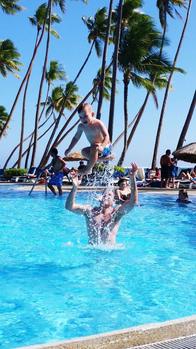 Vacations Swimming Pool Water Enjoyment Splashing Carefree Leisure Activity Summer Sunlight Traveling Real People Fiji Islands Fiji Island