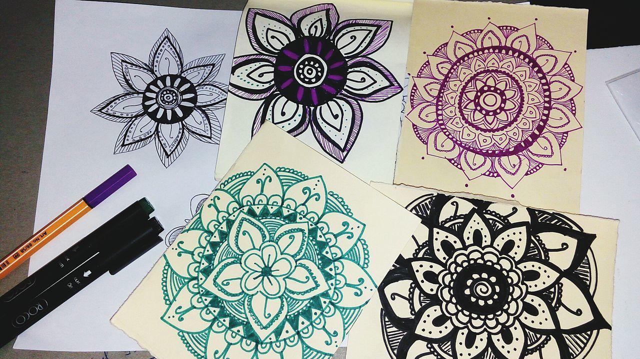 Art And Craft Creativity Ink Paper Indoors  Drawing - Art Product No People Sketch Pad Close-up Pencil Drawing Mandala Mandala Art Freespirit Freespirited Universe Art Angeldraws Angelart
