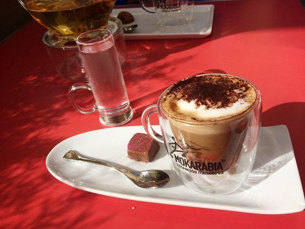 Caffè Marocchino Relaxing Enjoying The Sun