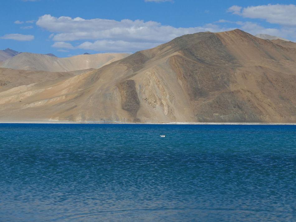 Blue Cloud - Sky Day Jammu And Kashmir Lake Landscape Leh Ladakh Mountain Nature No People Outdoors Pangong Lake Pangong Tso Scenics Sky Water Wilderness