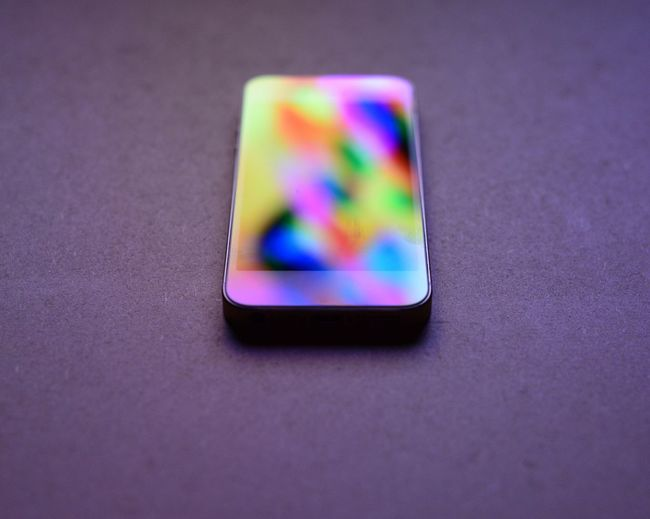 Abstract Close-up Focus On Foreground Mobile Phone Multi Colored Multicolored No People Reflection Single Object Studio Shot