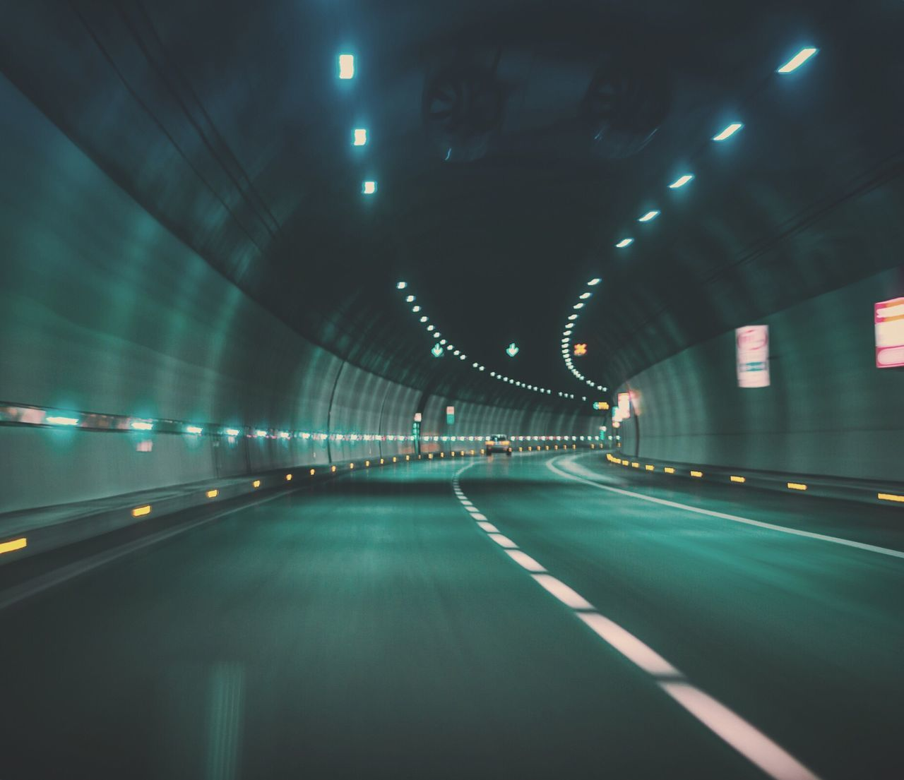 Tunnel a mile long. Italy Night Transportation Tunnel Indoors  No People Architecture Zoom Motion Motion Blur