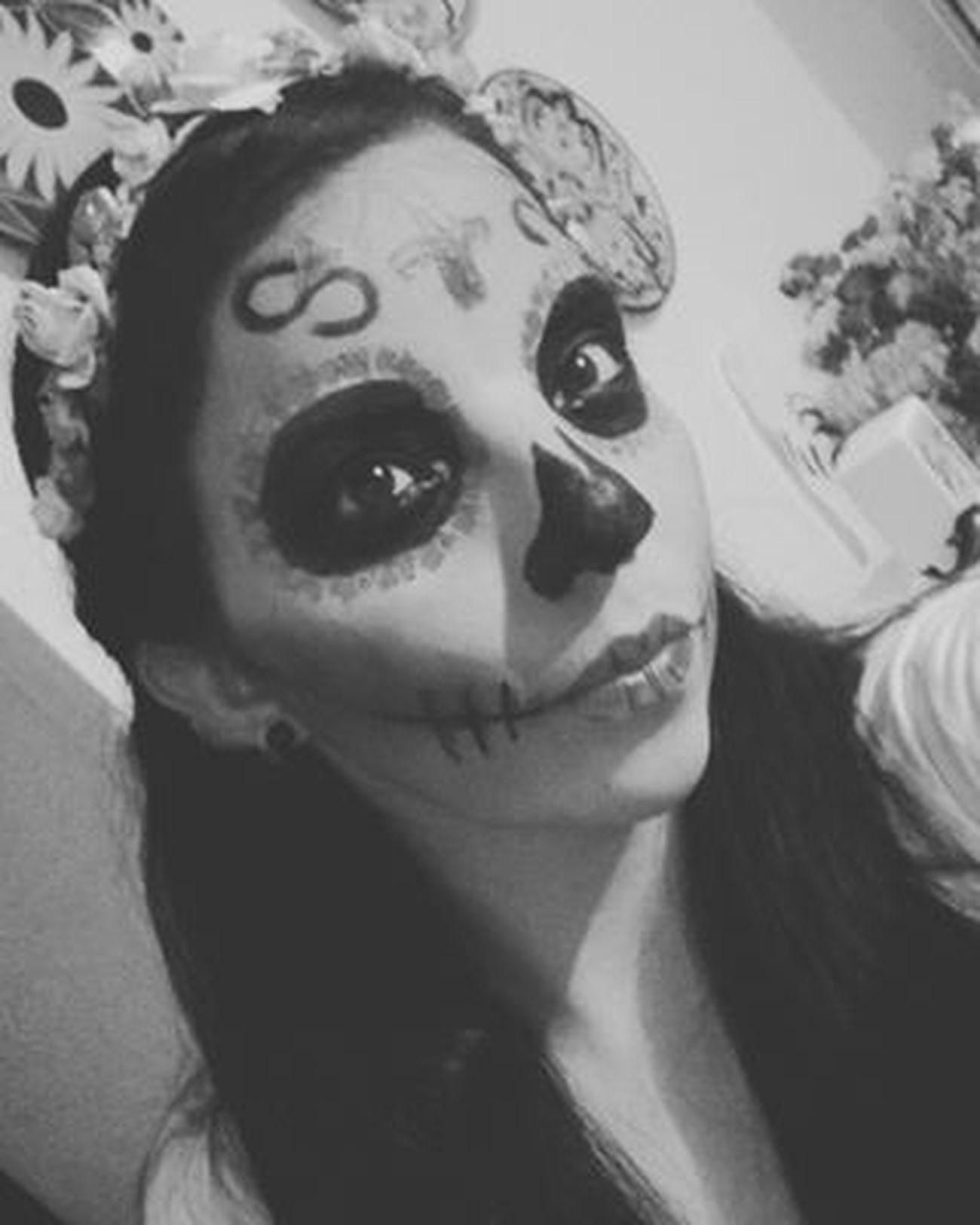 Diadelosmuertos Deadofday Mexico Tradicionesmexicanas Lacatrina Mazatlan Skull Maquillajecatrina It'sme