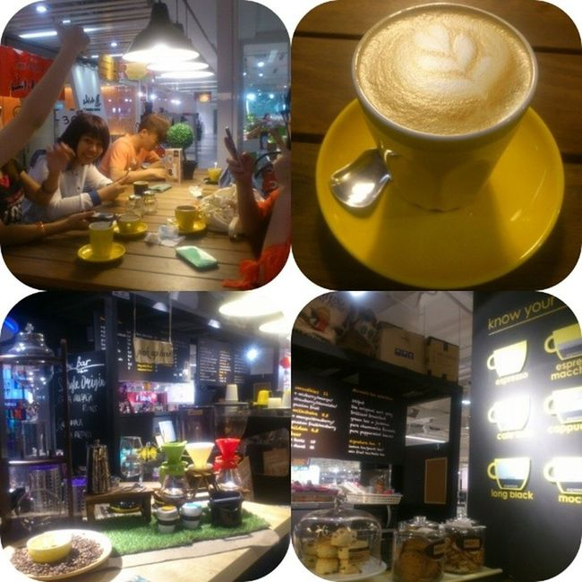 Nice place nice fren...but taste soso (3D coffee art nid add $) with dear all~ Lastthursday 2ndaryskulmatess Lastdaygathering Fahrenheit CoffeeandStainbyJoseph cafelatte 1sttry excitedatfirst disappointedatlast nothingspecial addsugar dintrydessert nexttime maybe