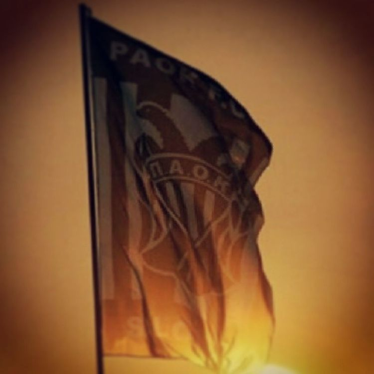 Paok Partizan Paokfc Paokbc thessaloniki salonika skg toumba toumbastadium flag sunset serbia partizanfc brothers csskamoscow macedonia people flag idea grobari greece photooftheday lifo